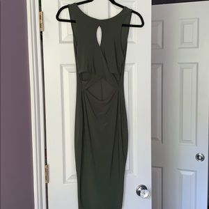 Green Cutout Bodycon Dress